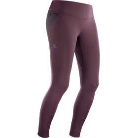 Salomon Agile Warm Tights Women wine tasting